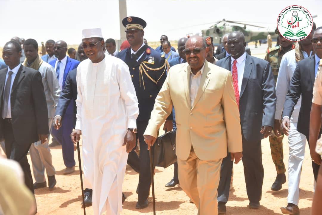 الرئيسان السوداني، عمر البشير، والتشادي، إدريس ديبي