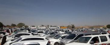 السيارات في احدي الحظائر بدارفوربدارفور