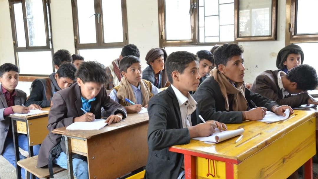 تلاميذ في مدرسة البردون